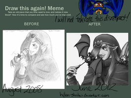 Before and After Meme: Vaati-yaki by hylian-shadow
