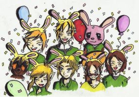 Bunnyhood party!! by Zeliga