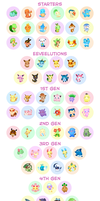 Pokemon Buttons 2014 by Fishenod