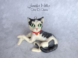 Custom Pet Ornament - Cat by ArteDiAmore