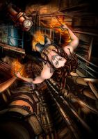 Industrial fire by cristinademanuel