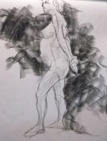 Female standing nude by Decopunk