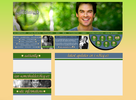 Ian Somerhalder Simple Layout by Lexigraphic