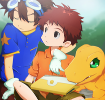 Agumon, eat that laptop... by Detoreik