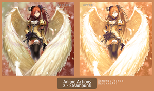 Anime Actions 2: Steampunk by Demonic-Wings