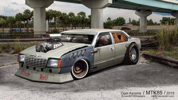 Opel Ascona Rat Tuning by MTK85