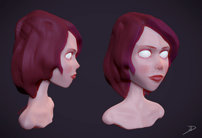 Stylized Girl by snipergen