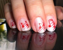 music nails by CallHerKaddi