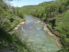 Letchworth from Portage Bridge by GateFan
