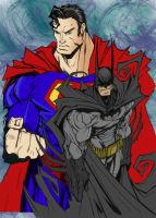 Dark Knight and Man of Steel by Hamtheruleroverall