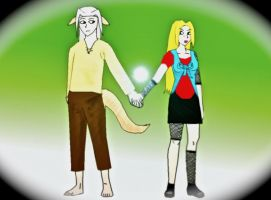 Kentemaru And Kerra by doll-fin-chick