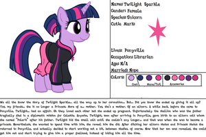 Twilight Sparkle Ref (for my Fanfic) by RamenWolf1485