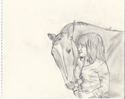 A Girl and Her Horse by Bright-Eyes-See-Lies