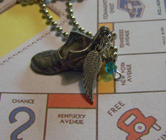Monopoly Shoe with Wing by mymysticgems
