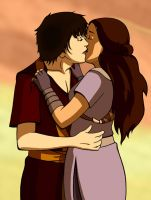ATLA: Zutara Kiss Colored by Efeu