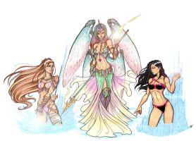 Women of Aspen Comics by CrimsonArtz