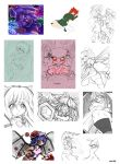 Touhou doodles by mihai1988