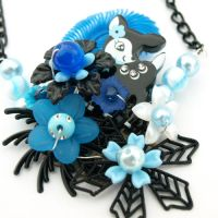 Prancer Collaged Necklace by AndyGlamasaurus