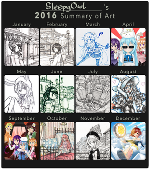 My 2016 summary of art by SleepyOwl15