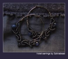 Violet earrings by bodaszilvia