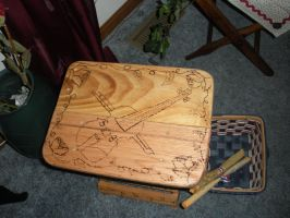 Wooden Folding Stool 2 by CandleGhost