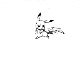 Pokedex Project: Pikachu Number 25 (sketch) by GreenSimon