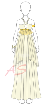 Female Goddess Costume Adoptable [pricecut] $2 by applestruddles