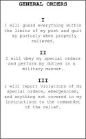 General Orders Card by RedWireDesigns