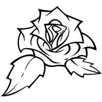 Old-new school tattoo rose by nakedbabymouse