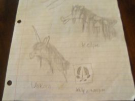 unicorn and Kelpie.. my two favorite horses by Dragonchic2000