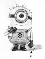 Minion -  Freehand Drawing by ZackBag