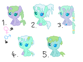 MLP|Breedable Foals|Kelpy Bliss x Ice Skate|OPEN by cheesepuff2