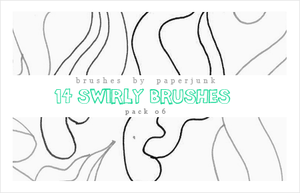 Brushes Pack 06: Swirls by PaperJunk