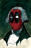 Deadpool Washington painting by MUFC10
