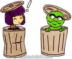 Slayers Xell and Oscar the Grouch xD by PPLyra