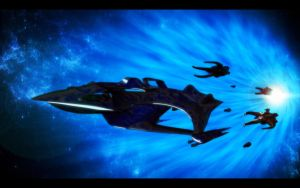 Babylon5 - Whitestar with Vorlon fleet by Admin3D