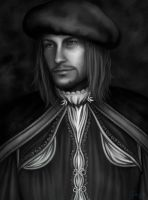 Leonardo Black And White by SweetCandyRain