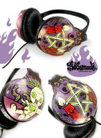 Black Magic Headphones by Bobsmade