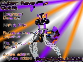 Cyber Rave Outfit - AN003 by AnimeNebula003