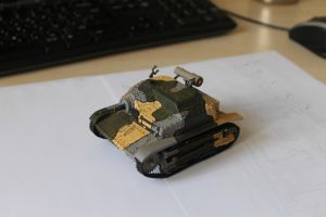 Polish tankete TKS paper model by BHAAD