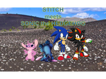 Stitch meets SONIC the HEDGEHOG by JAID-SHADOW
