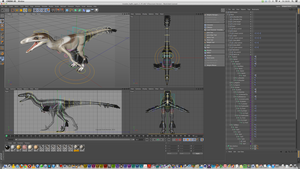 Troodon (rig) by Paperiapina