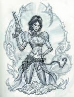 Lady Mechanika con sketch by MichaelDooney