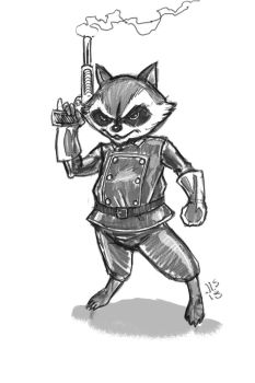 Rocket Racoon 1 by JerryLSchick