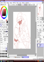 wip Kakashi and Nayumi the last  progress by Sarah927