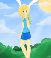Fionna the human girl by Drawing-Heart