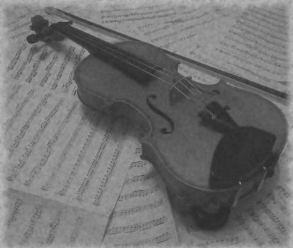 Harmony - Violin and Music (Greyscale) by scotlandwolf