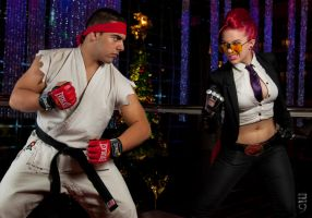 Ryu Vs. Crimson Viper by itsthekitsunekid