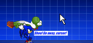 The time of day when you swat cursors with Yoshi by Peyton-the-echidna