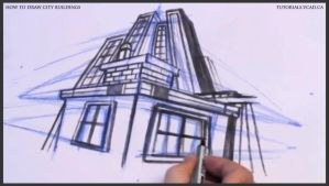 Learn how to draw city buildings 032 by drawingcourse